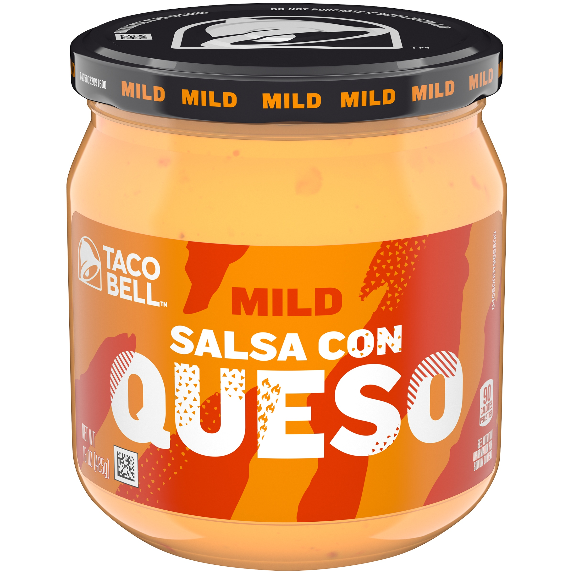 Taco Bell Mild Salsa Con Queso Cheese Dip 15 oz. Jar