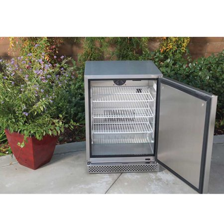 Bull Premium Stainless Steel Outdoor 24 Kitchen Refrigerator Fridge 2 Pack