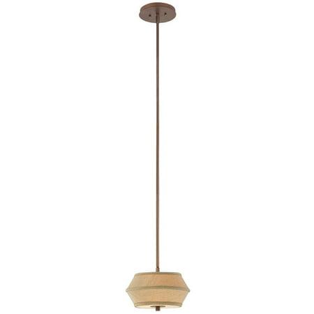 Dolan Designs Sunrise - Two Light Mini-Pendant, Classic Bronze Finish with Toasted Fabric -