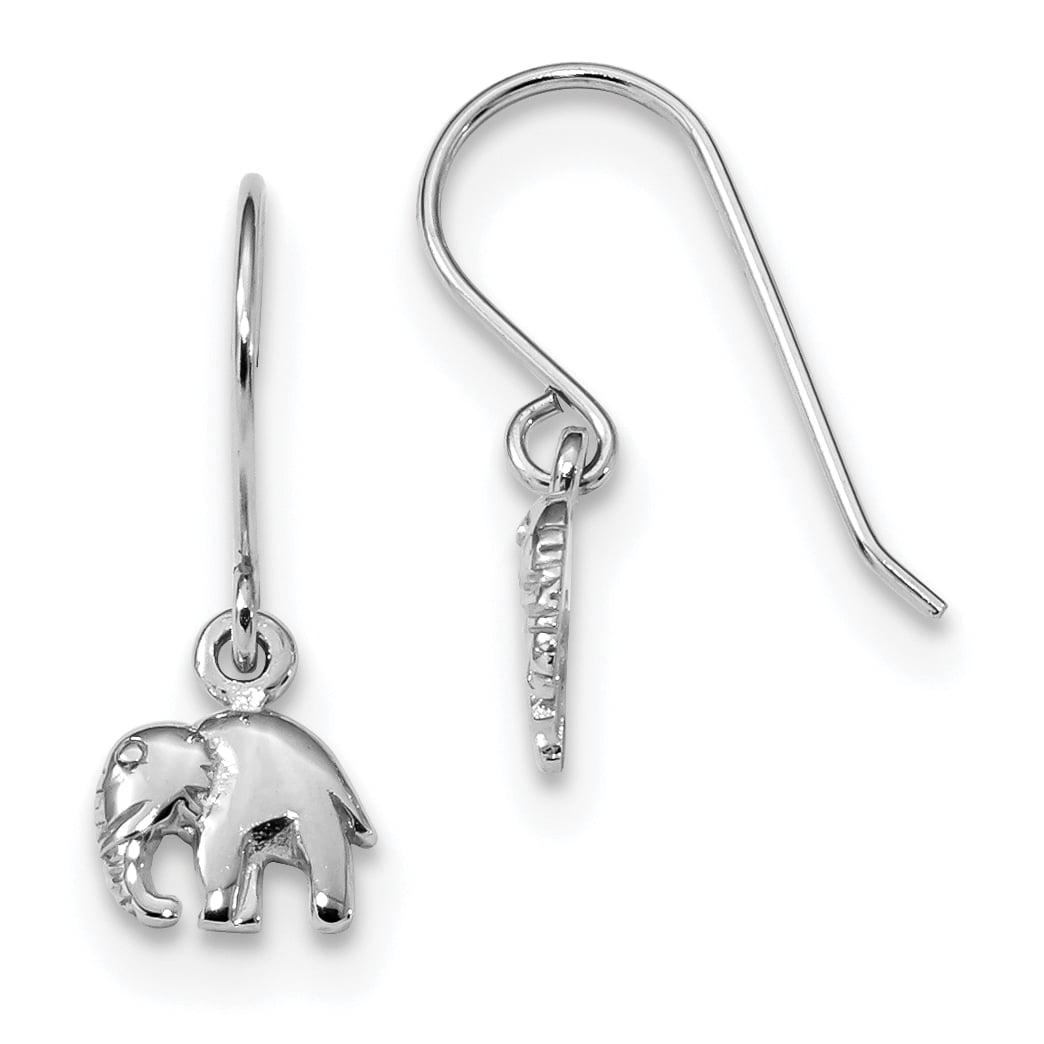 925 Sterling Silver Elephant Drop Dangle Chandelier Earrings Animal Wild Fine Jewelry Gifts For Women For Her - image 4 of 4
