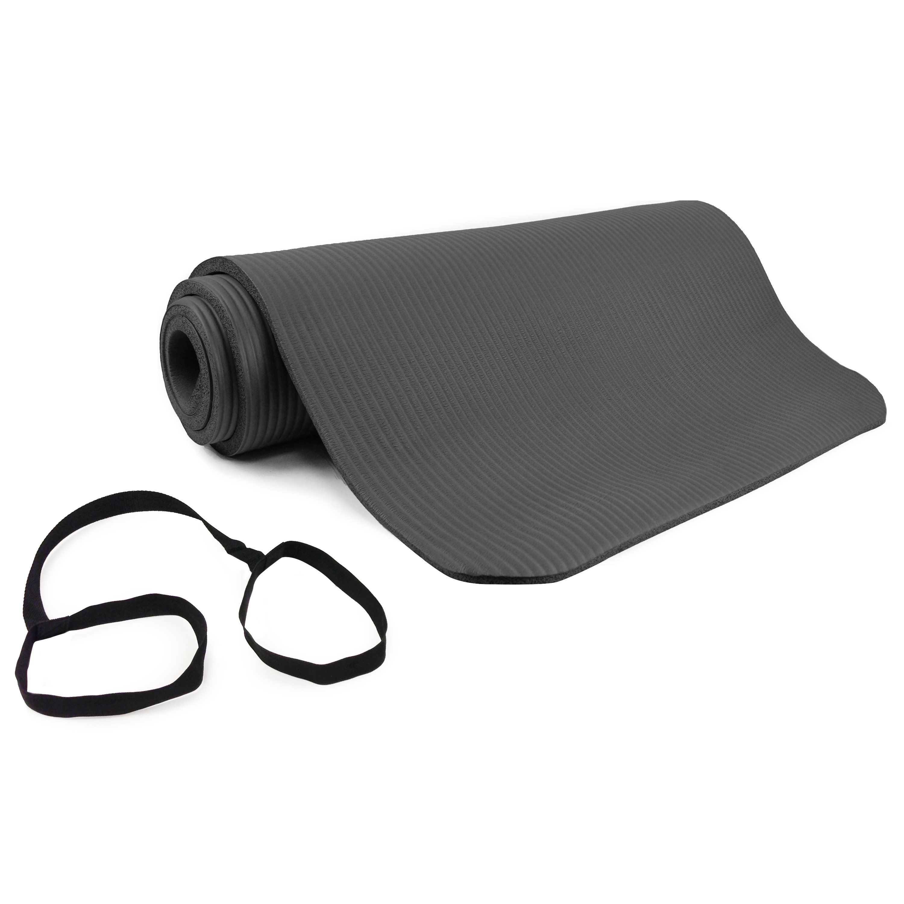 Venture Comfort Foam Exercise Mat, 12 mm, Grey