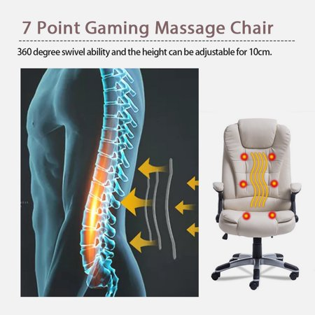 Astounding Swivel Gaming Massage Chair Ergonomic Pu Leather Executive Creativecarmelina Interior Chair Design Creativecarmelinacom