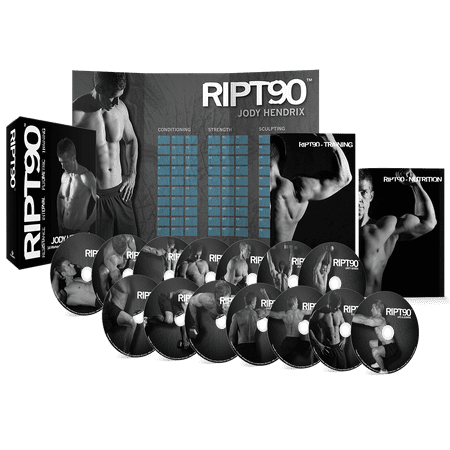RIPT90: 90 Day 14-DVD Workout Program with 14 Exercise Videos + Training Calendar & Fitness Guide and Nutrition Plan