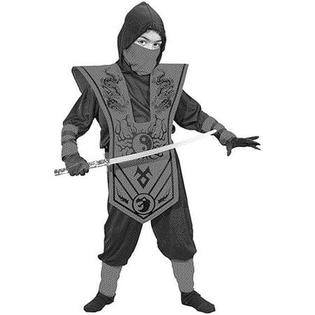 Fun World Complete Ninja Child Halloween Costume, Red](Halloween Fun Costumes)
