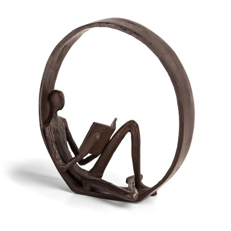 Danya B. Encircled Reader Iron Sculpture ()