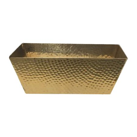 Brayden Studio Hammered Metal Basket
