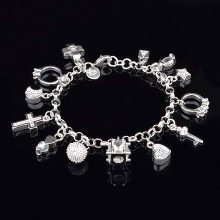 Chanel Charm Bracelet (CLEARANCE - My Charmed Life - Silver Charm Bracelet)