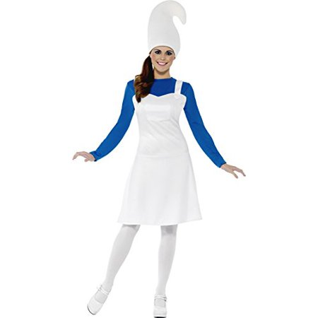 Smiffy's Women's Garden Gnome Costume, Dress and Hat, Funny Side, Serious Fun, Size 6-8, 23391 (Gnome Dress)