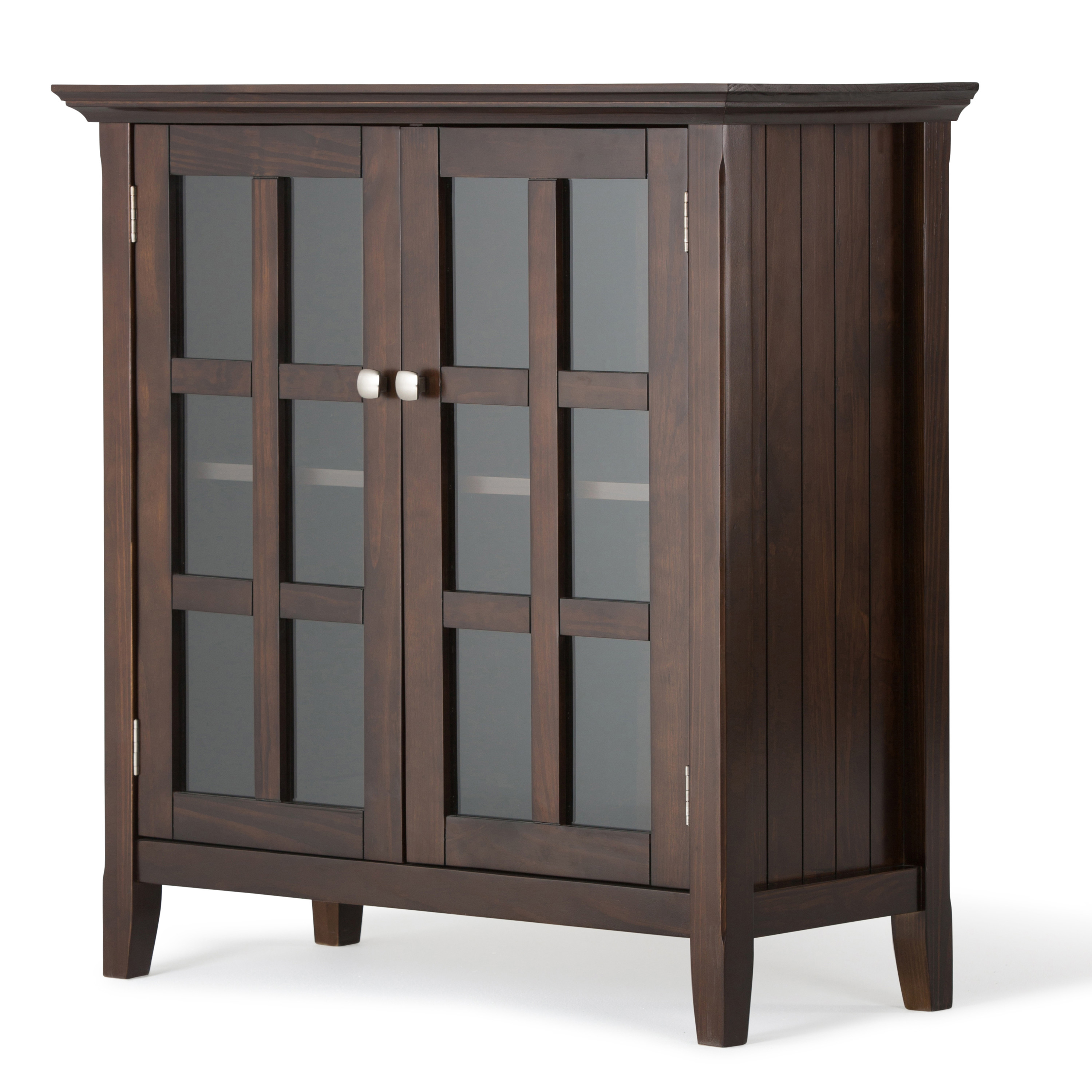 Brooklyn Max Brunswick Solid Wood 35 Inch Wide Rustic Low Storage Cabinet In Tobacco Brown Walmart Com Walmart Com