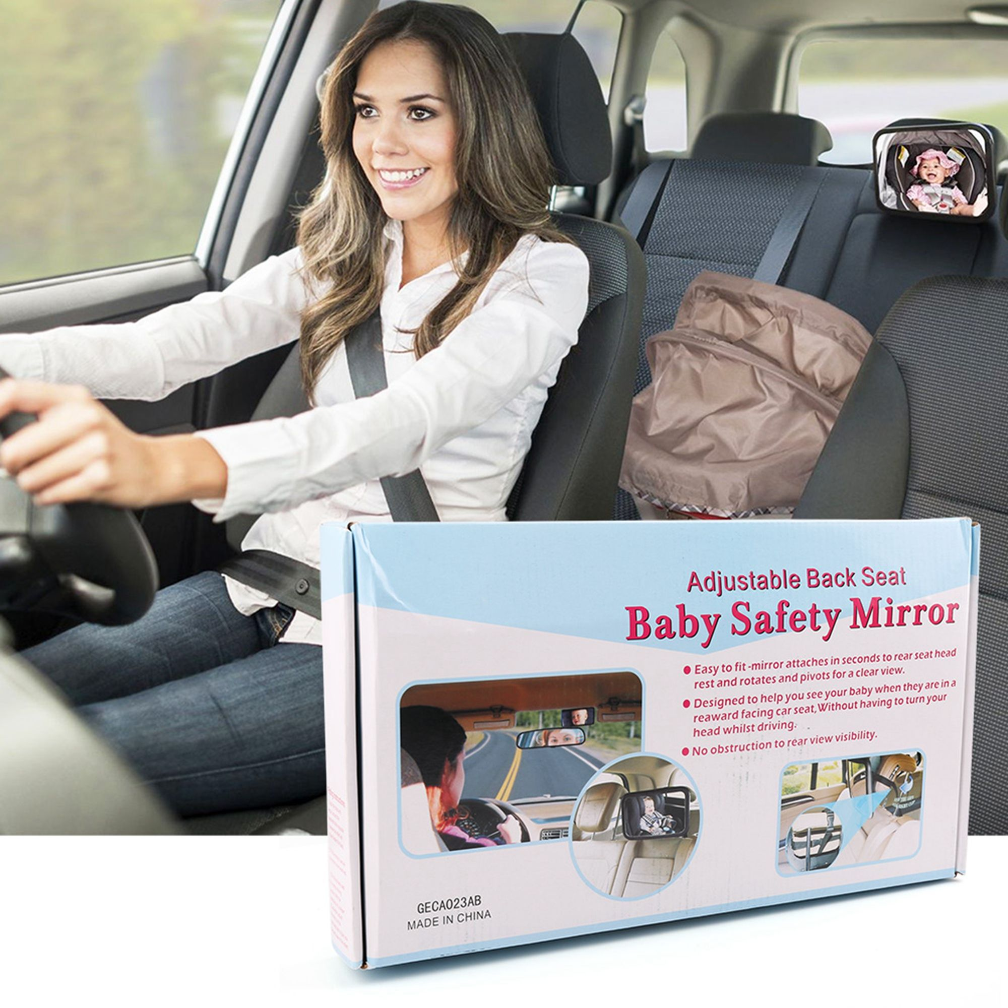 LotFancy Baby Car Mirror Back Seat For Rear Facing Infant Shatterproof Non Glass