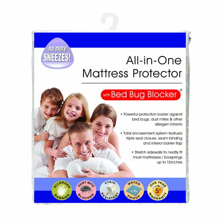 Original Bed Bug Blocker Zippered Mattress Cover Protector (Queen Size Cover Bed Bugs)