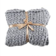 Handmade Chunky Knitted Woven Blanket, Large Soft Throw Blanket for Bed Sofa Office 80*100cm(Multi-color optional)