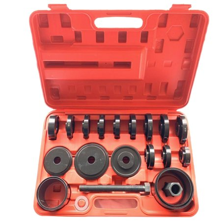 OkrayDirect 23pc Front Wheel Drive Bearing Press Tool Removal Adapter Puller Pulley Set (Press Pullers)