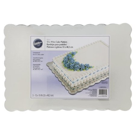 Wilton 13 x 19-Inch Cake Boards, Silver, 3-Count