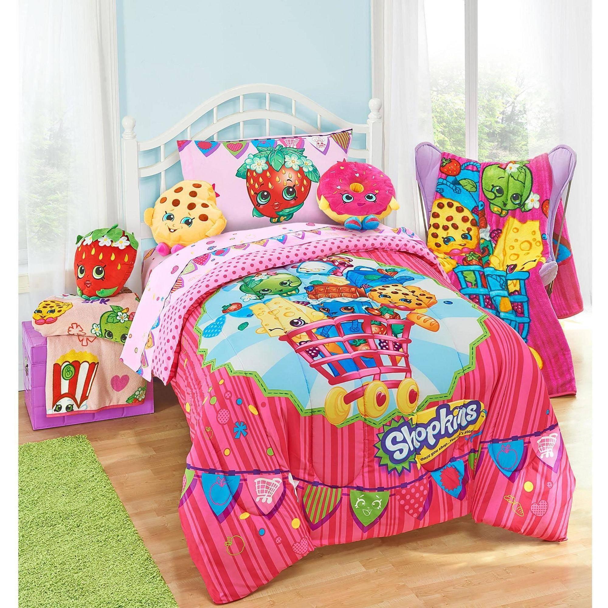 Shopkins Comforter Kids Pink Bedding Twin Girls Bedroom