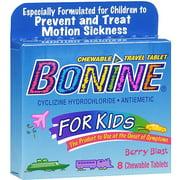 Bonine Kids Chewable Travel Tablets With Berry Blast, 8 oz