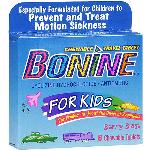 Bonine Kids Chewable Travel Tablets With Berry Blast, 8 oz