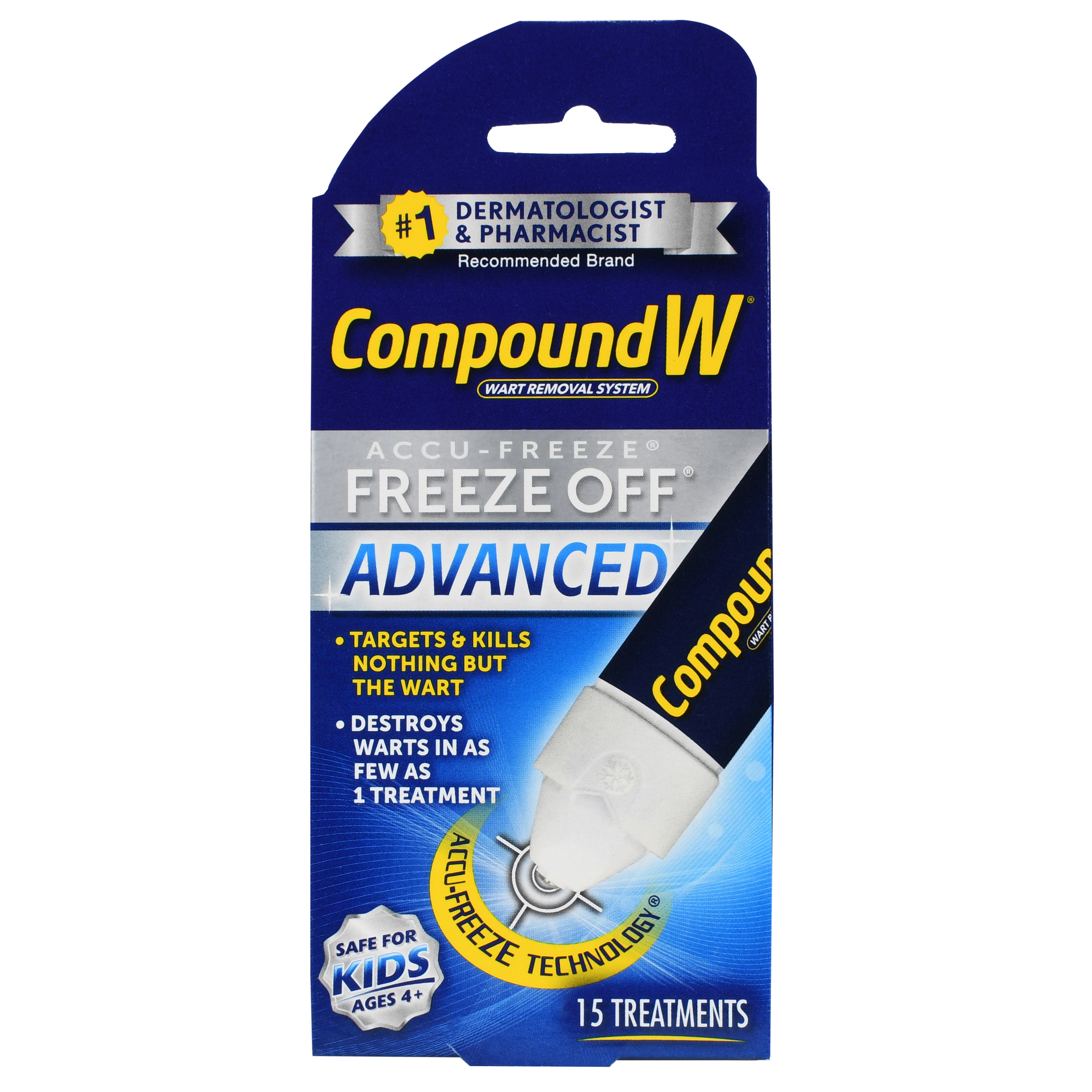 Compound W Wart Removal System Freeze Off Advanced Treatments - 15 CT