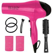 Revlon Ceramic Ionic Dryer Blowout Gift Set, Pink, 7 pc