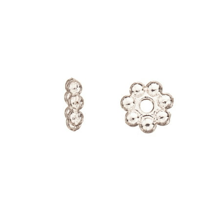 Pkg Daisy - Daisy Spacer Silver Plated 8x2.2mm Sold per pkg of 30