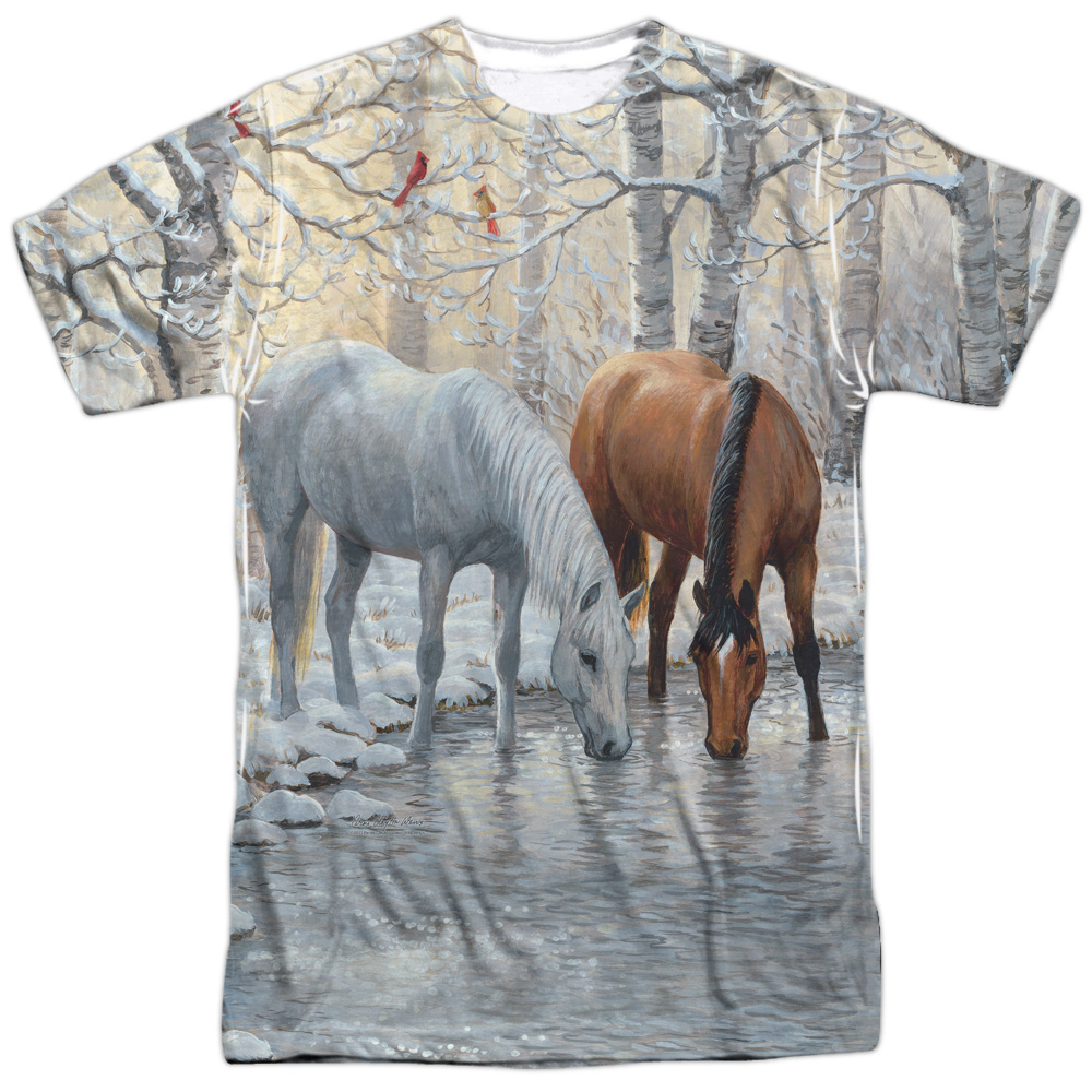 Wild Wings Frosty Sunshine (Front Back Print) Mens Sublimation Shirt