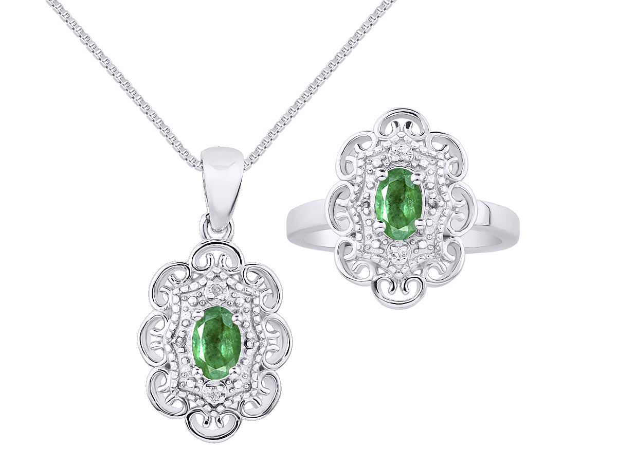 Details about  /14k White Gold Peridot Floral Pendant
