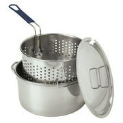Bayou Classic Stainless Steel Fry Pot with Basket