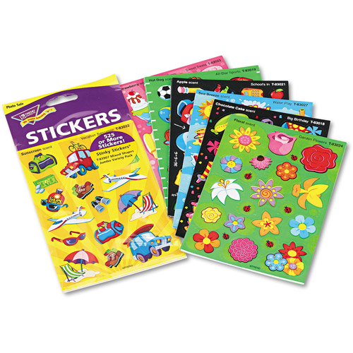 TREND Stinky Stickers Variety Pack, Good Times, 535pk