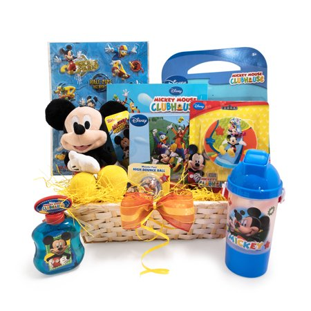 Easter Gift Basket Idea for Kids XOXO Mickey themed Colorful Basket - Colorful Easter Baskets