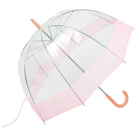 All-Weather 42 Pink and Clear Dome Umbrella