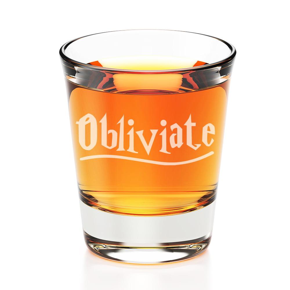 Obliviate Engraved Fluted Shot Glass