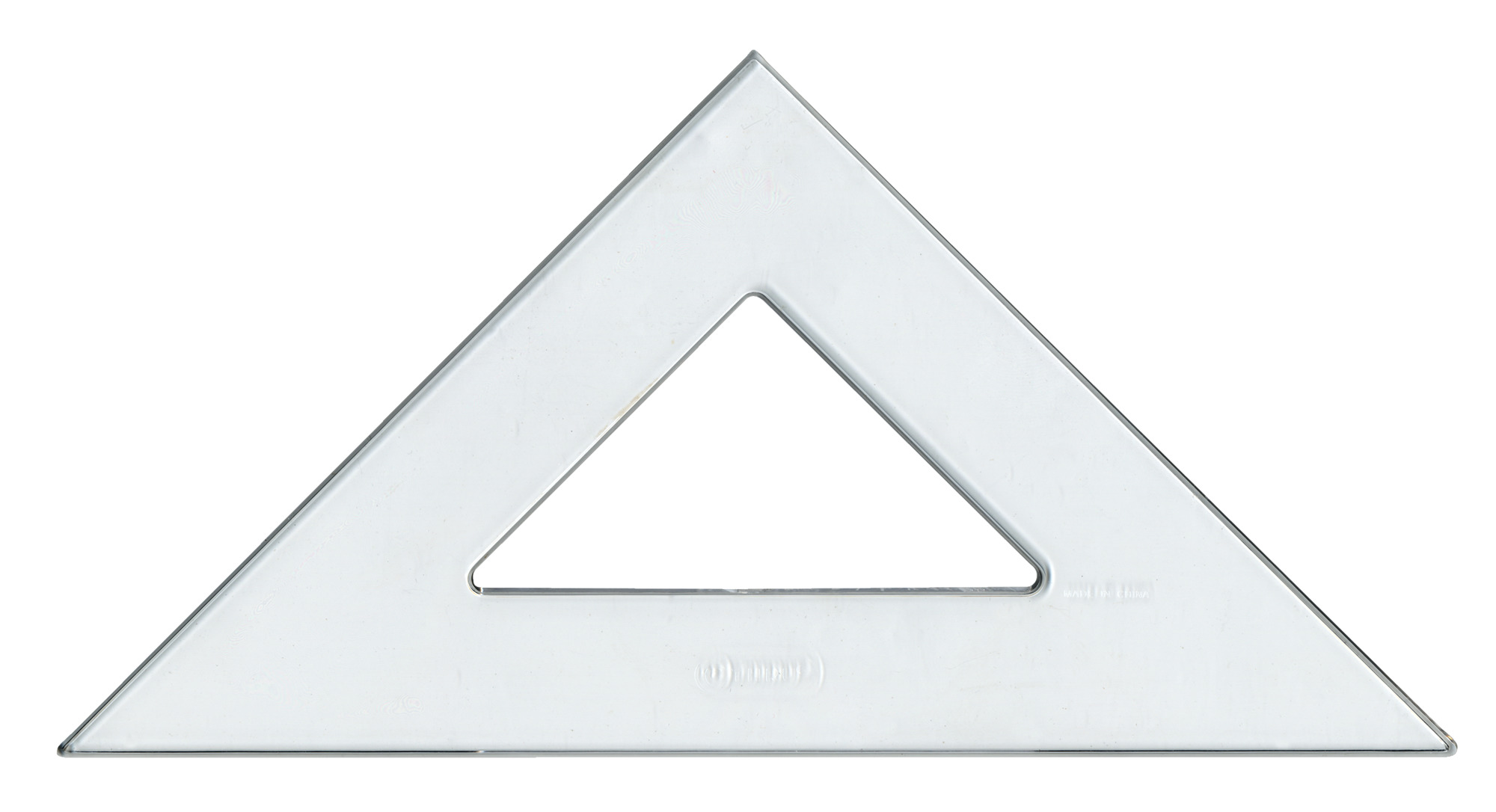 Westcott Student Grade Polystyrene Triangle  Degrees 10 Inches Clear