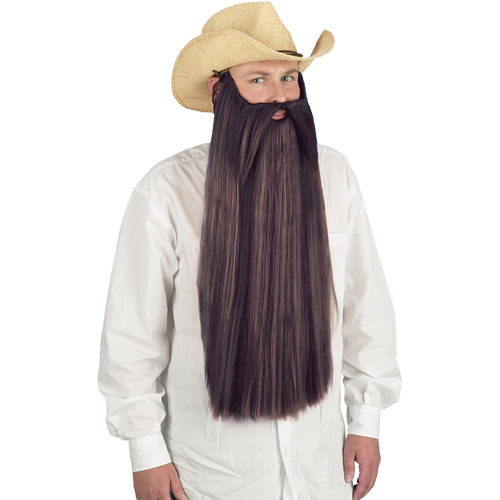 Beard with Mustache Adult Halloween Accessory