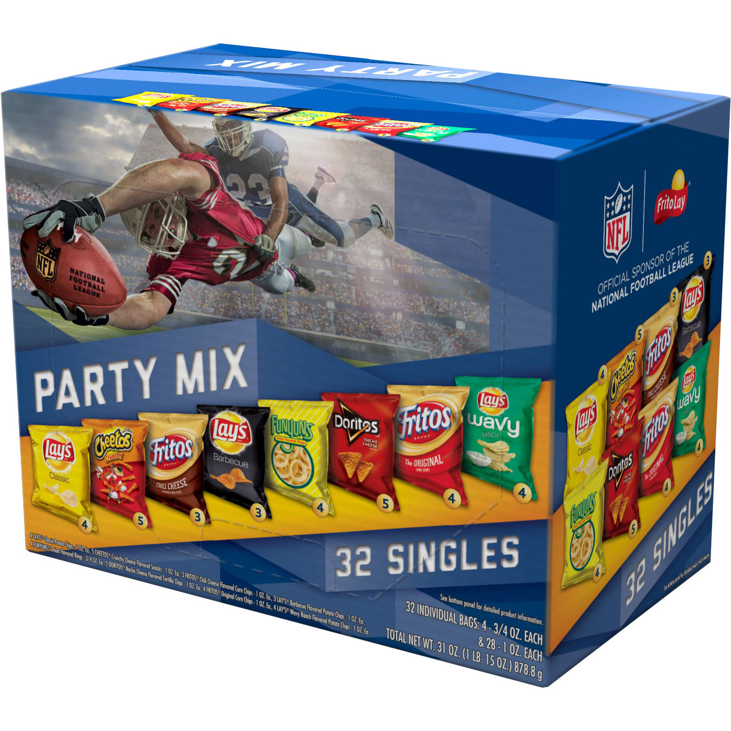 Frito-Lay Party Mix Variety Pack, 32 count, 31 oz