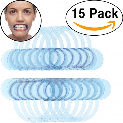 15 Pack Dental Cheek Retractor for Watch Ya Mouth/Speak Out Game C-SHAPE