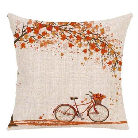 KABOER Fall Maple Leaves Pillow Case Autumn Theme Pumpkin Pillow Cover Thanksgiving Linen Sofa Bed Throw Cushion Cover Decoration Autumn Maple Leaf
