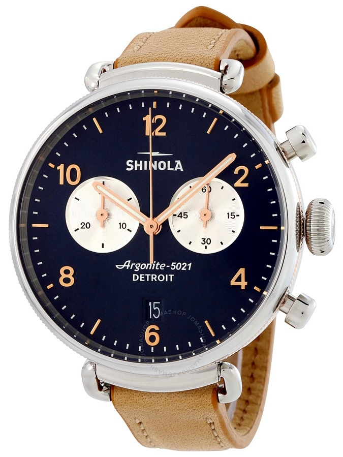 Shinola The Canfield Blue Dial Leather Strap Ladies Watch 20001931