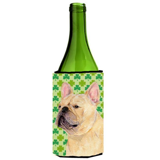 Carolines Treasures SS4416LITERK French Bulldog St. Patricks Day Shamrock Wine bottle sleeve Hugger - 24 oz. - image 1 of 1