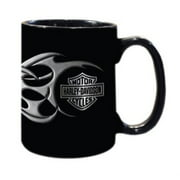 Harley Davidison Tribal Graphic Black 15 Ounce Mug