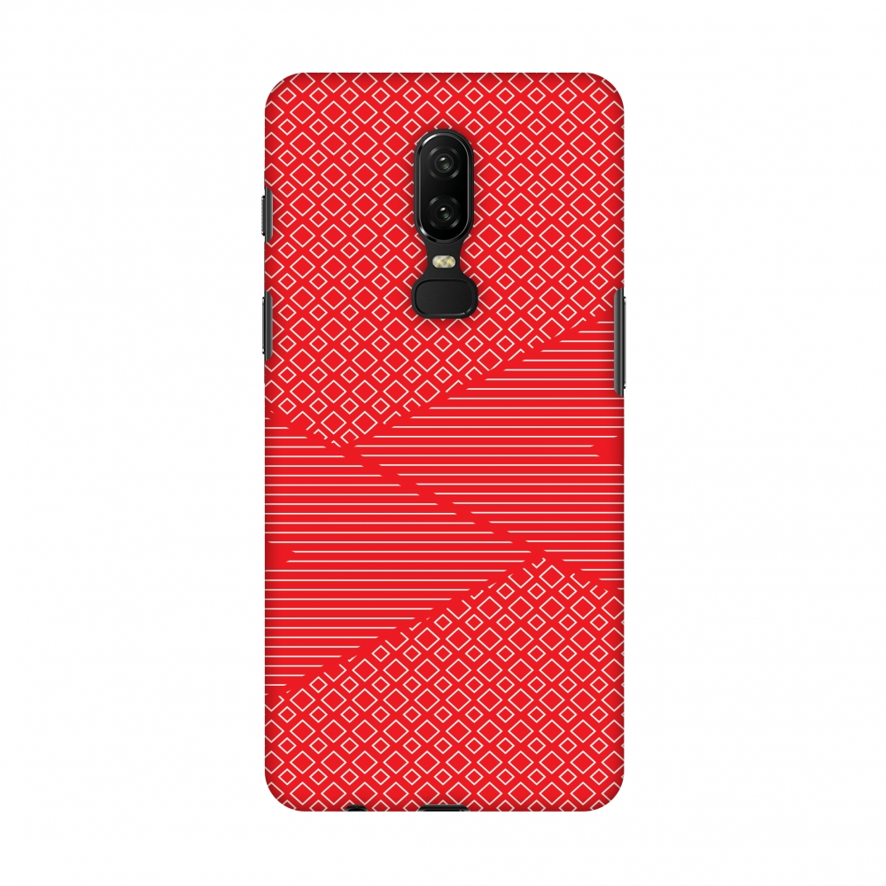 OnePlus 6 Case - Carbon Fibre Redux Candy Red 6, Hard Plastic Back Cover, Slim Profile Cute Printed Designer Snap on Case with Screen Cleaning Kit