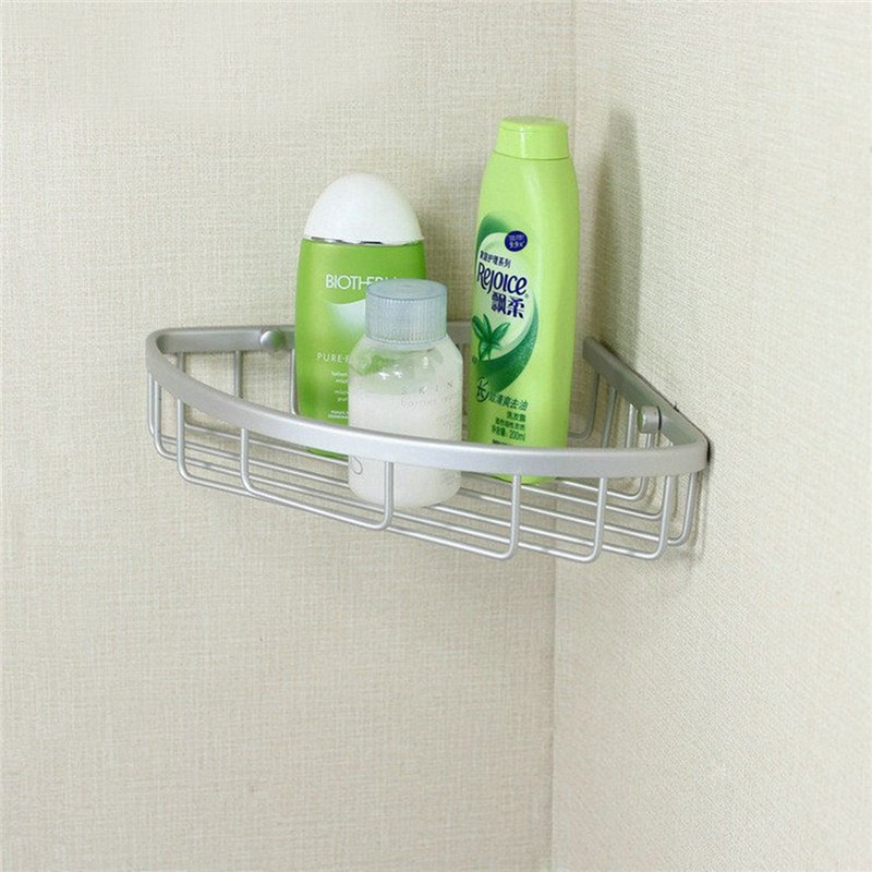 Triangular Shower Caddy, 3 Layers Aluminum Bathroom Corner Rack Shower Wall Shelves... by
