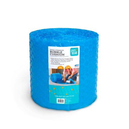 "Pen + Gear 12"" x 50' Bubble Cushion, Blue, Plastic, 5/16 Large Bubbles"