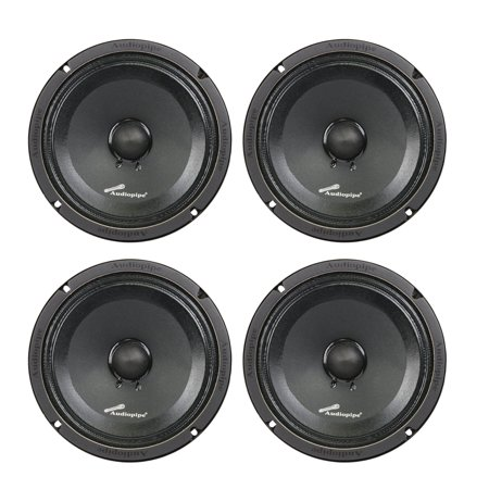 4) Audiopipe APMB-8SB-C 8 Inch 250W Low Mid Frequency Midwoofer Car Loudspeakers