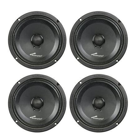 - 4) Audiopipe APMB-8SB-C 8 Inch 250W Low Mid Frequency Midwoofer Car Loudspeakers