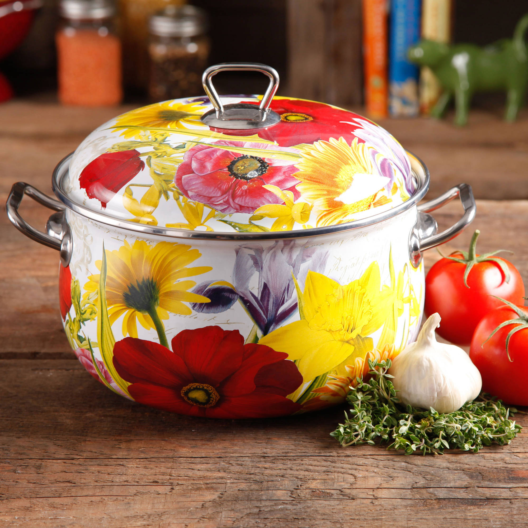 The Pioneer Woman Floral Garden 6.5-Quart Dutch Oven - Walmart.com