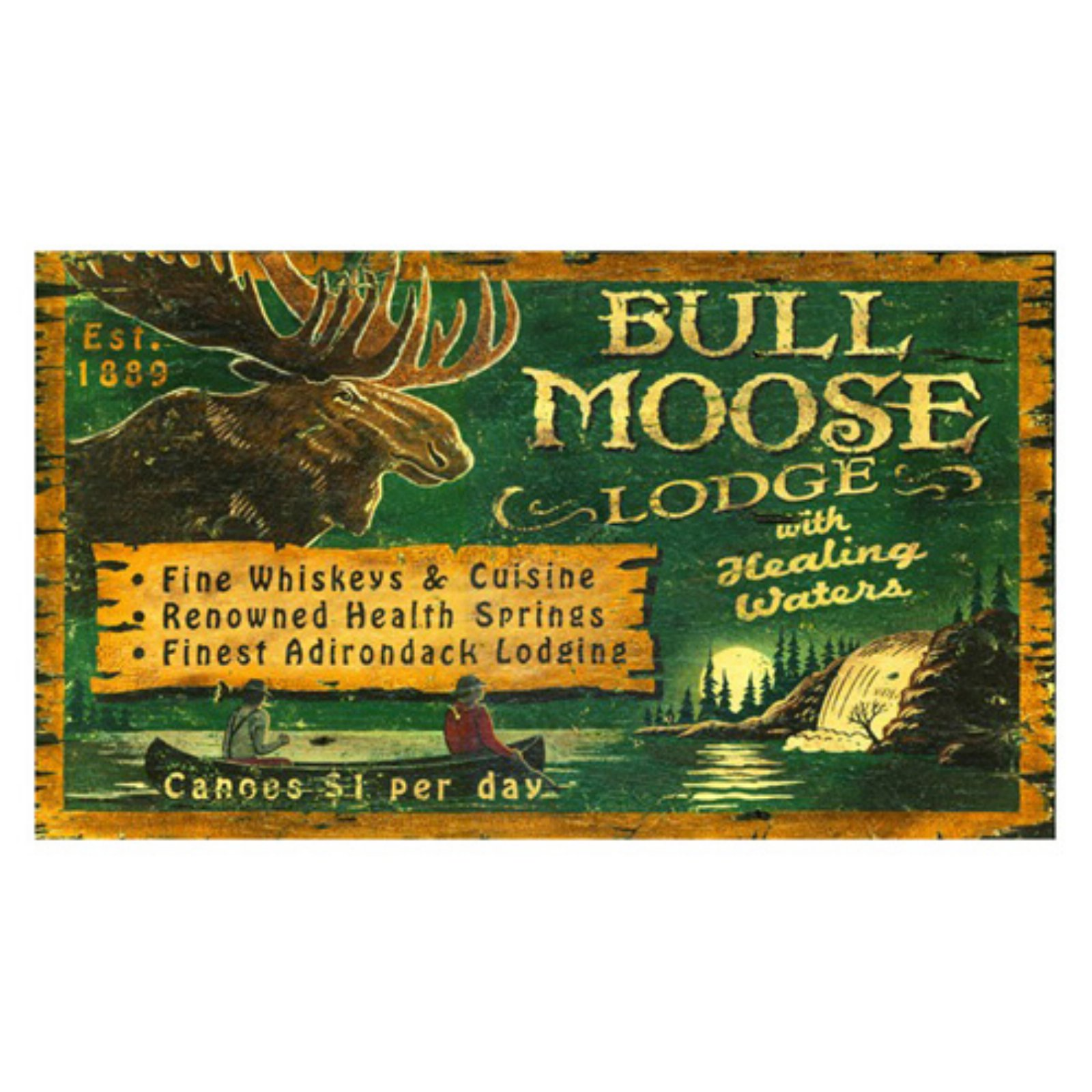 Bull Moose Lodge Wall Art