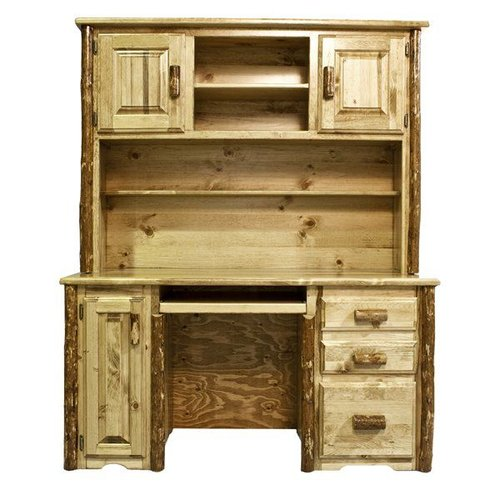 Montana Woodworks MWGCDH Glacier Country Computer Desk with Hutch