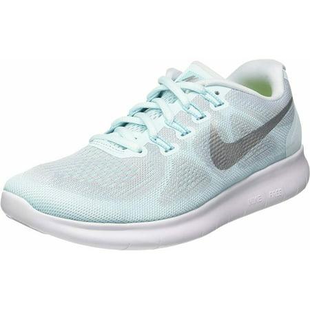 Nike Flex 2017 RN Women White/Glacier Blue-Blue Tint Athletic Shoes US 8.5