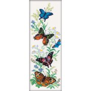 "Flying Butterflies Counted Cross Stitch Kit-6.25""X17.75"" 14 Count"
