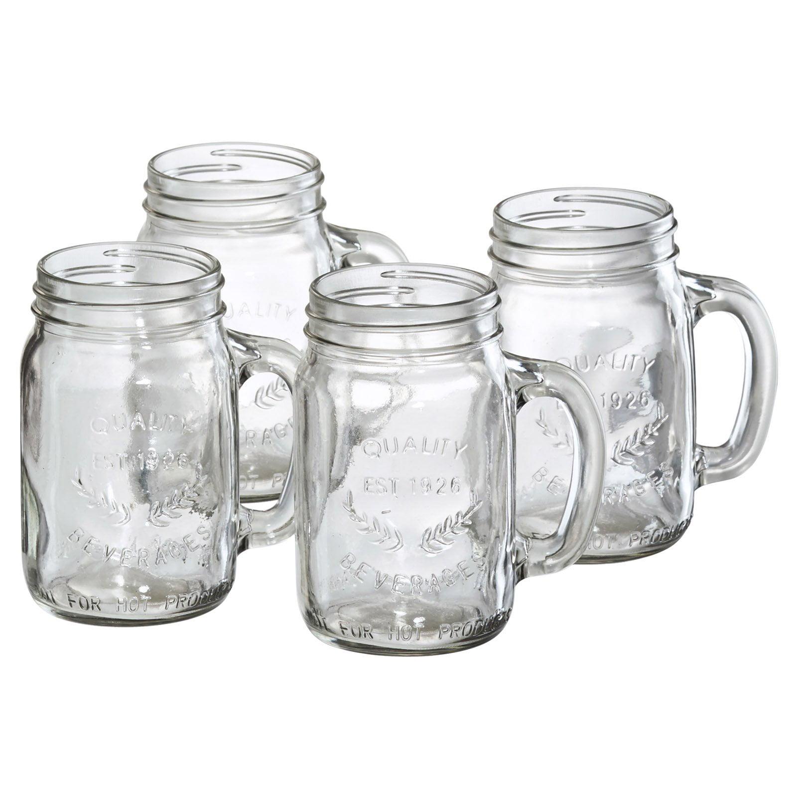 Artland Oasis Mason Jar with Handle - Set of 4